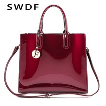 c0fbf266eac0 SWDF 2018 Brand Bright solid color patent leather ladies fashion bag ladies  simple Shoulder handbag casual · 4 Colors Available