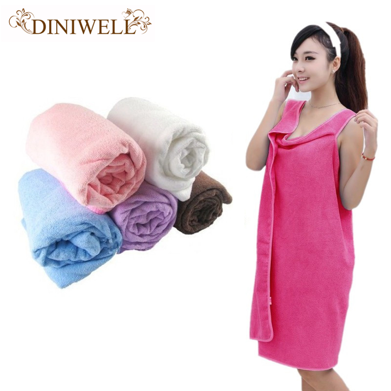 DINIWELL 6 Color Unisex large Microfiber Soft Magic Able Wear Bath Robes <font><b>Towel</b></font> Bathrobes Skirt Beach Toallas <font><b>Towels</b></font> For Adults