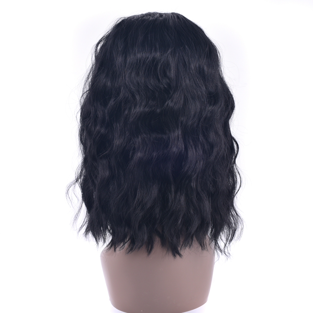 Soowee 3 Colors Black Burgundy Short Kinky Curly Synthetic Hair Cosplay Wigs Party Hair Bob Wig for Black Women
