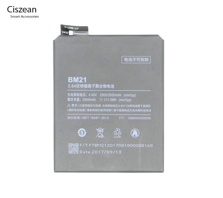 Ciszean Replacement-Battery Batteria Mobile-Phone Mi-Note Xiaomi 2900mah/11.1wh For 3GB