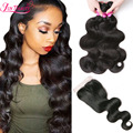 7A Unprocessed Malaysian Lace Closure Malaysian Body Wave With Closure Cheap Human Hair Weave With Lace Closure With Bundles