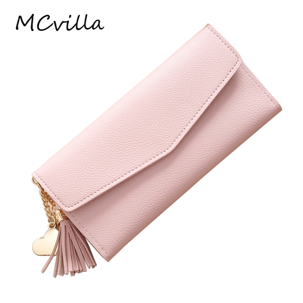 New Luxury Fashion Envelope Women Wallet Long Leather Wallets Popular Change Purse Casual Clutch Female Bag Ladies Cash Purse new fashion women leather wallet deer head hasp clutch card holder purse zero wallet bag ladies casual long design wallets