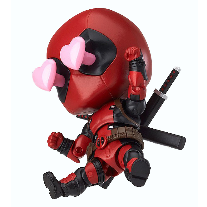 Marvel Super Hero Deadpool Nendoroid Pvc Action Figure #662 Collectible Model Toy 10cm fire toy marvel deadpool pvc action figure collectible model toy 10 27cm mvfg363