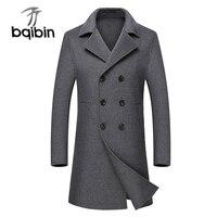 Новое поступление модные роскошные высокое Класс осень зима шерстяное пальто Для мужчин длинные двусторонний материал КАШЕМИР модель