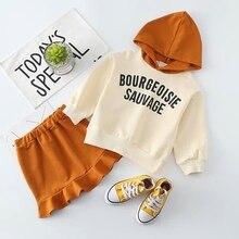 2018 Baby Girl Sring Fall Clothing Set Girls Kids Fashion Casual 2pcs Suits(Hoodies Shirts+Skirts) Children Clothes Sets