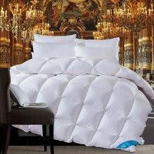 1.3 ~ 4.4 кг Goose/пуховое одеяло для зимы/лето отбеленный хлопок одеяло king Queen Twin Размер быстрая бесплатная доставка