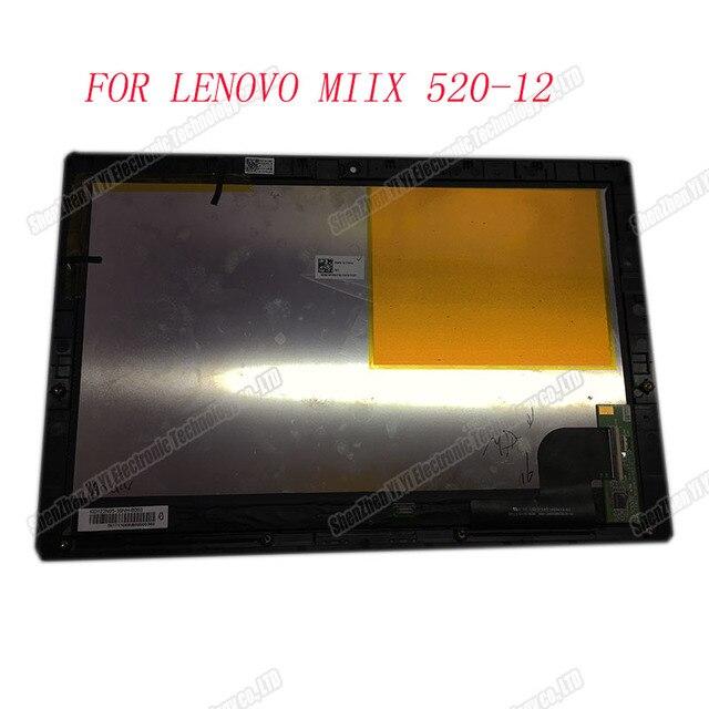 """Met Frame Lcd Display Voor Lenovo Miix 520 12Ikb Miix 520 12 Serie 12.2 """"Touchscreen Lcd 2 In 1 notebook Lcd scherm Montage"""