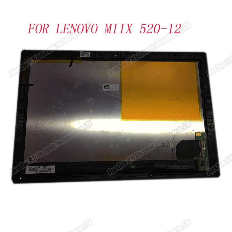 With Frame Lcd Display For Lenovo Miix 520-12Ikb  Miix520-12 Series 12.2