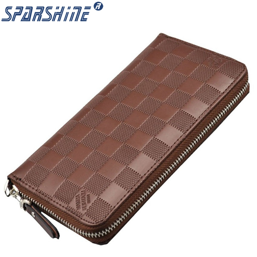 SPARSHINE High Quality Man And Women's Purse Female PU Leather Wallet Women Long Design Coin Purses Card Holder Carteira trendy women s coin purse with figure print and pu leather design