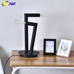 Projektant Welma tabeli światła sypialnia lampki nocne biurko szkolne kinkiet nowoczesny oszczędny dwie głowy lampy stołowe czarny żelaza table light designer table lighttable lamp black -