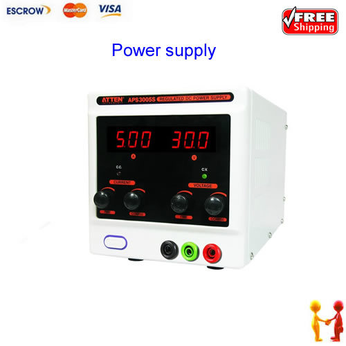 FREE SHIPPING! ATTEN APS3005S - 30V, 5A Variable DC Regulated Power Supply (Single Output)90w