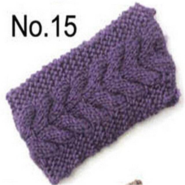Soft Light Purple Women's Crochet Knit Headband Hairband Flower Ear Headwrap Winter Warm Hair Suppiles For Ladies