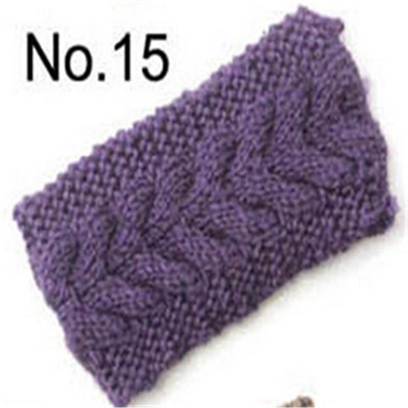 Top Quality Light Purple Womens Crochet Knit Headband Hairband