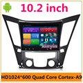 """10.2 """"Android Coches Reproductor de DVD GPS de Navegación de Radio de Audio para Hyundai Sonata I40 I45 I50 YF 2011-2015 HD1024 * 600 iNAND 16G mapa"""
