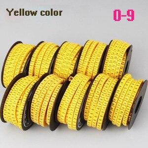 Image 3 - 5000 3000PCS żółty kolor znacznik kablowy mix numer EC 0 EC 1 EC 2 EC 3 kabel drut Marker numer 0 do 9 PVC materiał okablowanie marker