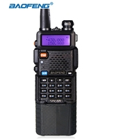 Baofeng long time standby BF UV 5R walkie talkie radio 3800mAh battery 5w power VHF UHF 128ch outdoor communication equipments