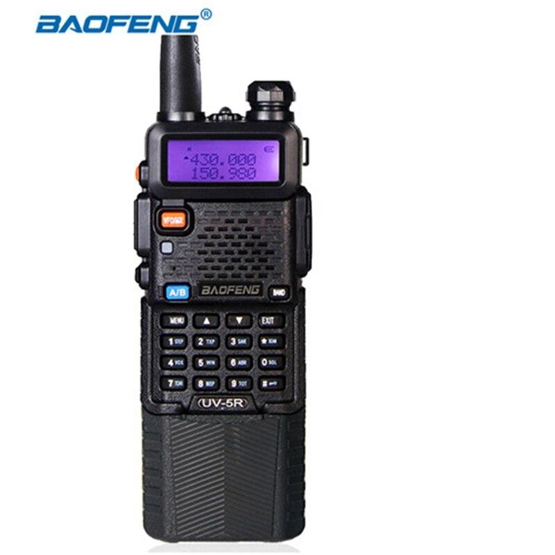 Baofeng longtemps veille BF-UV 5R talkie walkie radio 3800 mAh batterie 5 w puissance VHF UHF 128ch de communication extérieure équipements