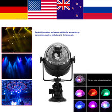 LED Stage Light USB Rechargeable Crystal Magic Ball Light Auto Voice Activated Lamp for Stage Disco Party Club DJ Lumie(China)