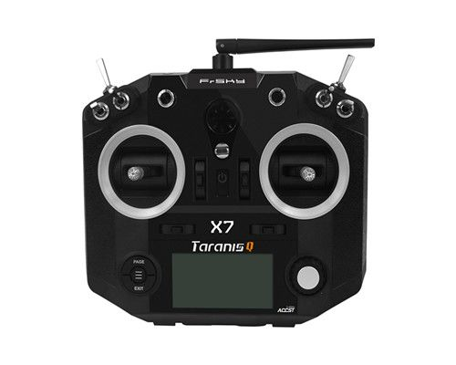 FrSky ACCST Taranis Q X7 2.4GHz 16CH Transmitter Black RC FPV Drone QX7 frsky accst taranis q x7 transmitter 2 4g 16ch mode 2 left throttle for rc hobbies helicopter fixed wing fpv racing drone