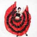 Испанского фламенко юбка испанский одежда испанский танец костюмы для женщин платье фламенко с headress