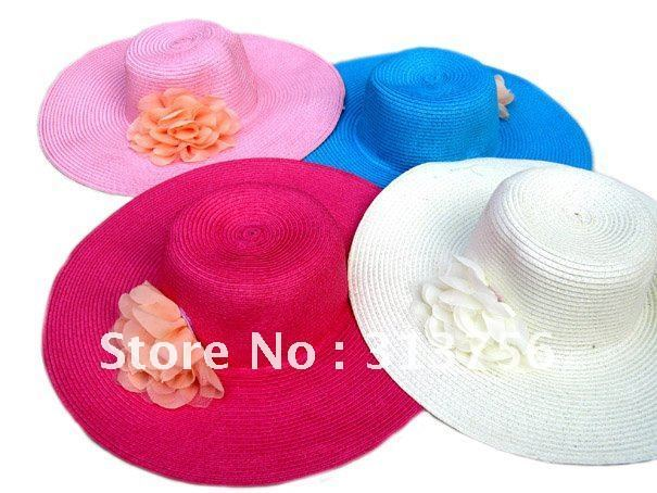 WIDE BRIM FASHION BEACH SUN STRAW HAT WHOLESALE