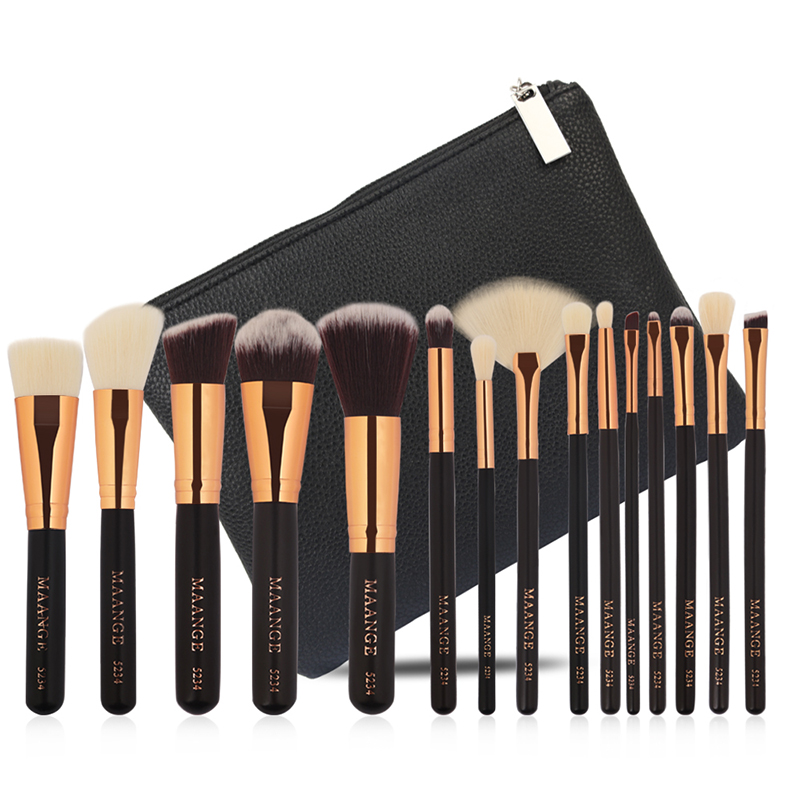 15Pcs Makeup Brushes Set Eye Shadow Foun