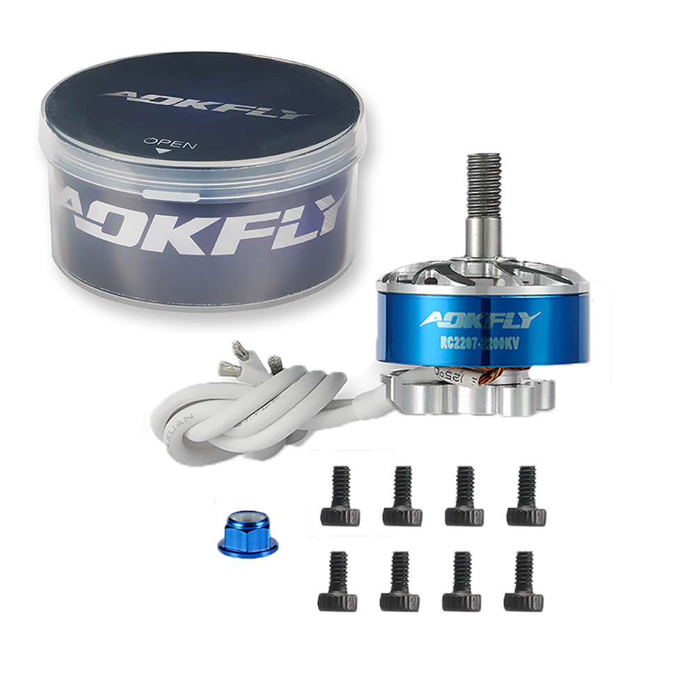 1 piezas AOKFLY 2207 motor 2200KV 2600KV CW RC motor 2207 motores sin escobillas 3-4 S para QAV 210 220 250 3,5 ~ 6mm espesor marco brazo