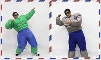 Adult Men S Muscle Hulk Giant Halloween Inflatable Costume Suit Marvel Avengers Superhero Fantasy Fancy Dress