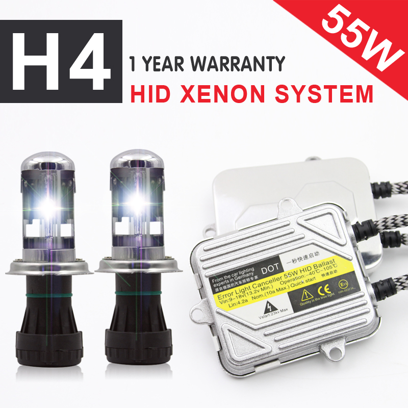 1 Set 12V 55W Car Headlight Bi-<font><b>xenon</b></font> <font><b>H4</b></font> pro canbus HID <font><b>xenon</b></font> <font><b>kit</b></font> <font><b>H4</b></font>-3 high/low hid <font><b>Kit</b></font> 3000K 4300K 6000K 8000K <font><b>10000K</b></font> 12000K image