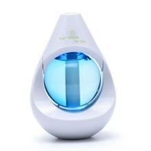 Mini Gota Humidificador LED Huile Essentiel Aroma Aceite Esencial Difusor de Aromaterapia Ultrasónico Humidificador Para Ministerio Del interior Del Coche