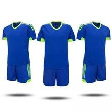 2017 Hot Sale New Arrival Men Short Sleeve custom logo jersey Sets for Football New Matrerial Good Quality