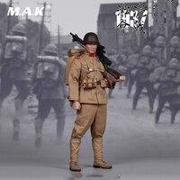 1/6 полный набор фигурку битва Шанхай Япония солдат пулеметчик коллекция Фигура Конструкторы