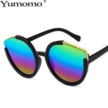 Vintage Round Sunglasses Women Personlity Cat Eye Sun Glasses Metal Colorful Gradient Feminino De Sol Gafas UV400 Luxury Brand