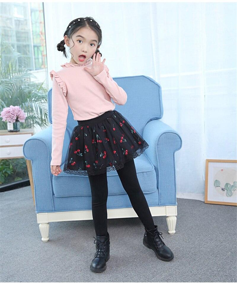 teenage girls legging with skirt10