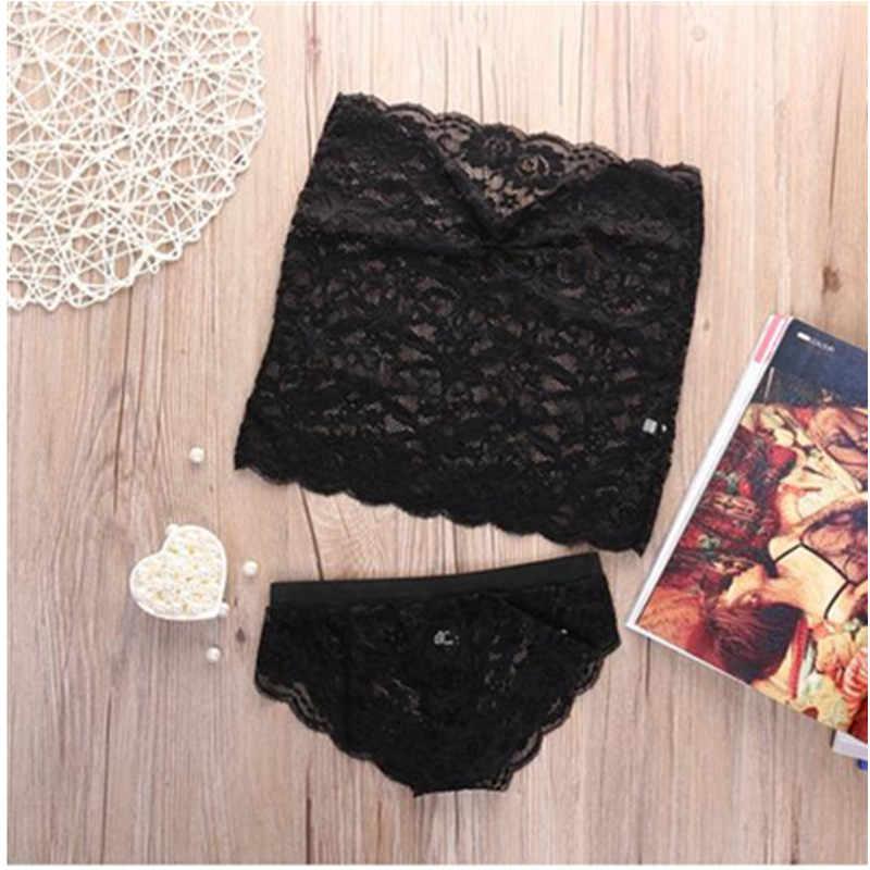 2019 Hot Fashion Women Girl Sexy Corset Lace Print Push Up Solid Vest Top Bra Set Lady Casual Sleepwear Underwear Suit W3