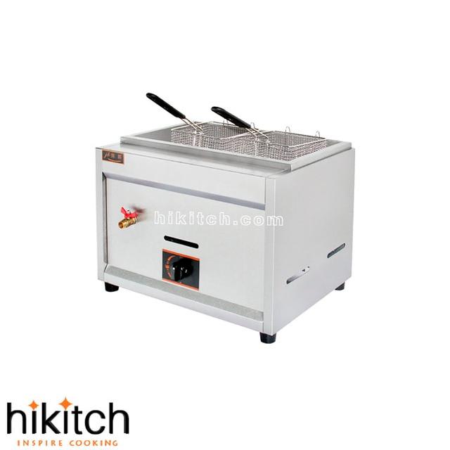 17l Kapasitas Penggorengan Besar Peralatan Dapur Lpg Gas Deep Fryer