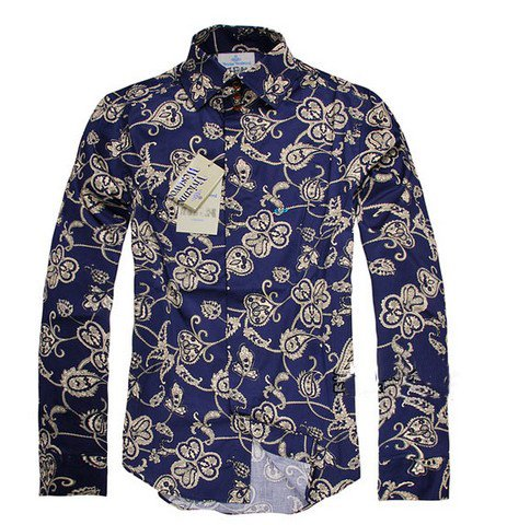 140dec87042a New 2011 limited edition men s shirt pattern noble blue