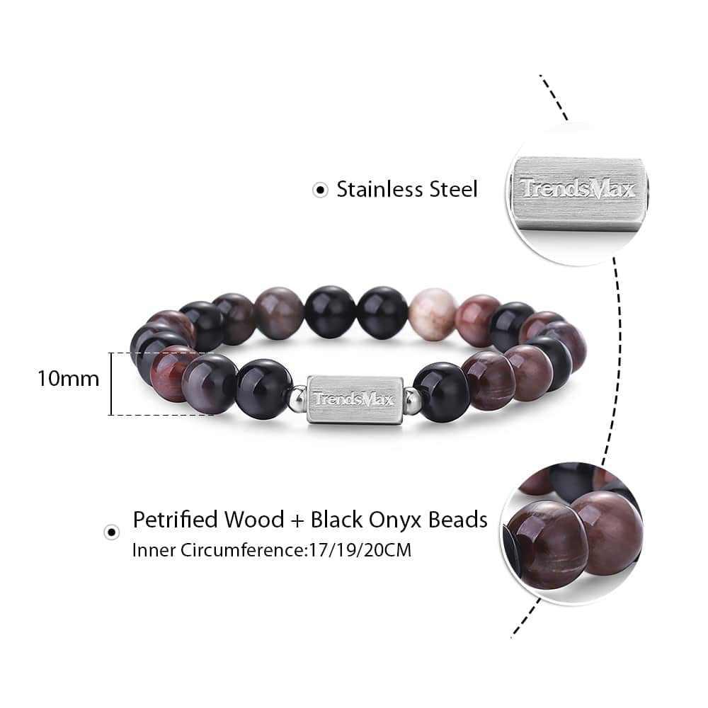 10MM naturalne Jasper kamień bransoletka z paciorkami onyks kamień Charm okrągły łańcuch koraliki bransoletki kobiety mężczyzna pulseiras Masculina TBB012