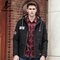 Pioneer camp nueva ropa de la marca espesar hombres chaqueta de invierno de calidad superior masculino winter warm coat moda camuflaje patchwork 677136