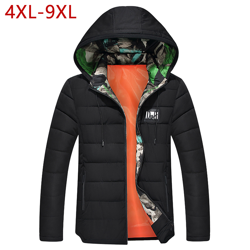 4XL-9XL Plus Size Winter Thicken Jacket For Men Warm Casual Parka Windbreaker Outwear Coat Mens 7XL 8XL Varsity Overcoat Male men plus size 4xl 5xl 6xl 7xl 8xl 9xl winter pant sport fleece lined softshell warm outdoor climbing snow soft shell pant