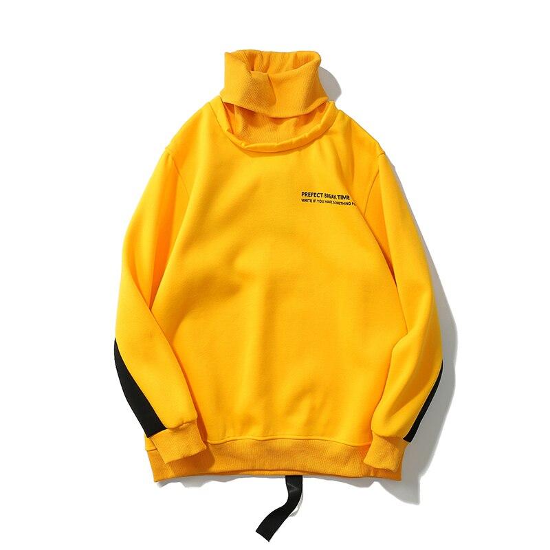 60149dd0456fe Aliexpress.com   Buy HEYGUYS turtleneck sweatshirts Europe us high street  men cool Hip Hop wear hot selling men designer yellow hoodie men from  Reliable ...