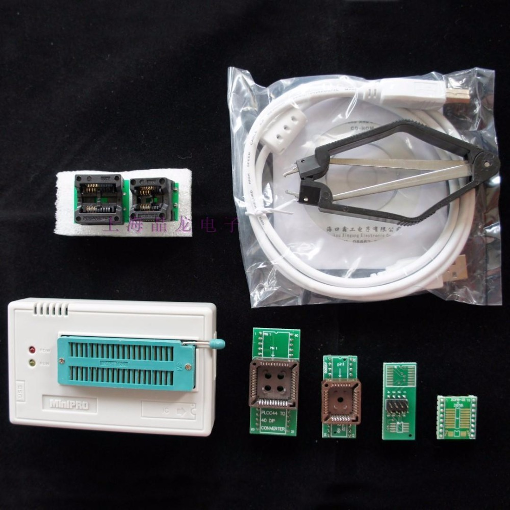 NEW 1PC USB Universal Programmer TL866CS Support 13000 ICs EPROM CPLD MCU 5pcs Adapter