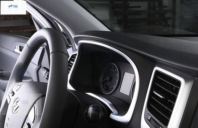Interior For Hyundai Tucson 2016 2017 2018 ABS Tuning Special Instrument  Panel Decorative Frame Cover Trim