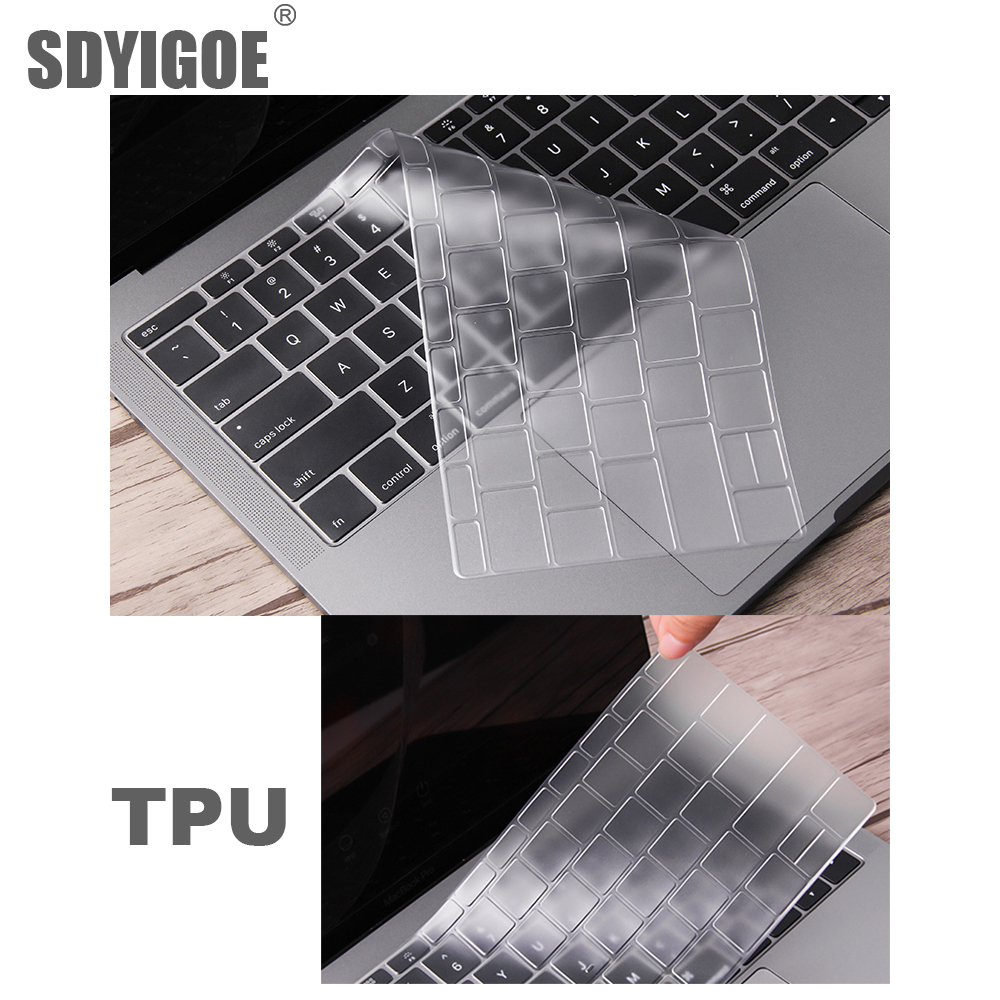 0 13mmTPU For Apple Macbook pro13 11Air 13 15Retina12inch All keyboard cover Ultra thin case clear protecter film EU US version in Keyboard Covers from Computer Office