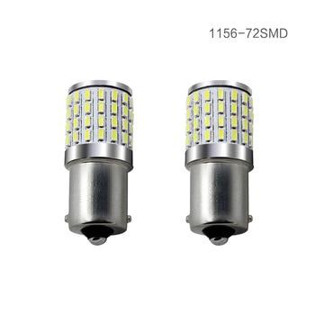 10pcs P21W LED 1157 1156 BA15S bay15d LED Bulbs t25 3156 3157 led Turn Signal Reverse Brake Light R5W 72smd 3014 led car 12-24v