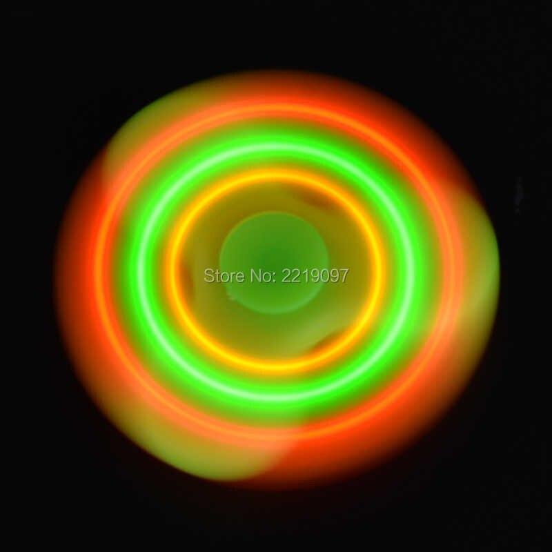 4 цвета Непоседа ручной Вращающийся Динамик Музыка Светодиодный свет EDC антистресс ручной Спиннер игрушки Спиннер-ручной Спиннер