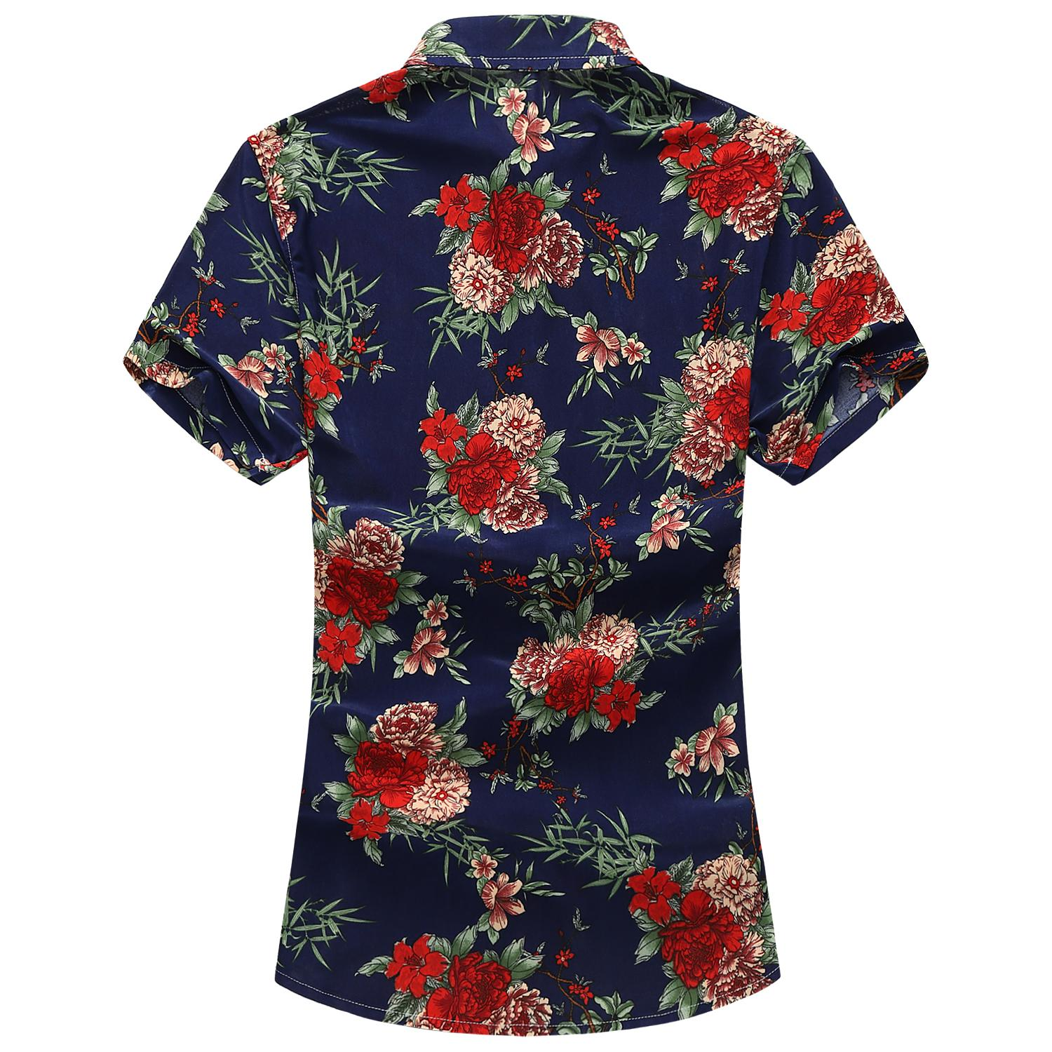 Men 39 s Shirts Floral Blouse Mens clothing Slim fit Summer Flower Shirt Men Leisure Beach style Fashion Camisa masculina in Casual Shirts from Men 39 s Clothing