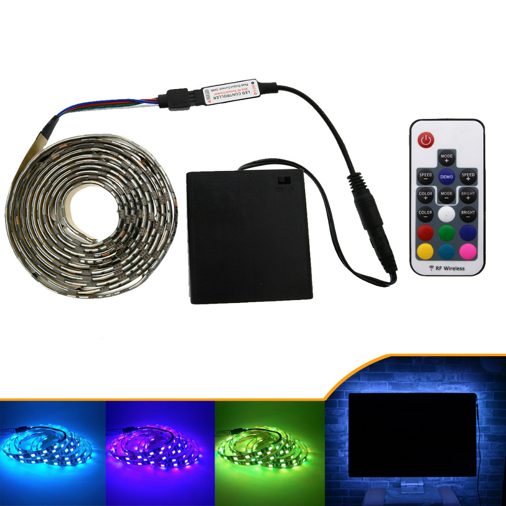 5050 LED Strip 5V TV Lights RGB Black PCB IP20 / IP65