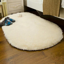 Hot sale Oval Carpets For Living Room Sofa Bed Bedides Mats Soft Rugs Non-slip Bedroom Mats Home Decoration Tapetes