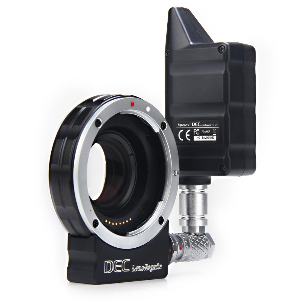 Prix pour Aputure focus réduire adaptateur telecompressor Optique Réducteur Adaptateur sans fil controller focus follow focus DECLensRegain pour MFT
